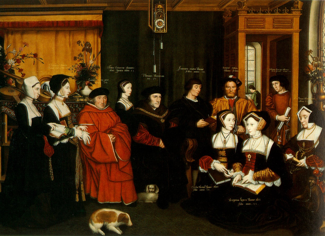 Rowland Lockey after Hans Holbein the Younger The Family of Sir Thomas More c 1594